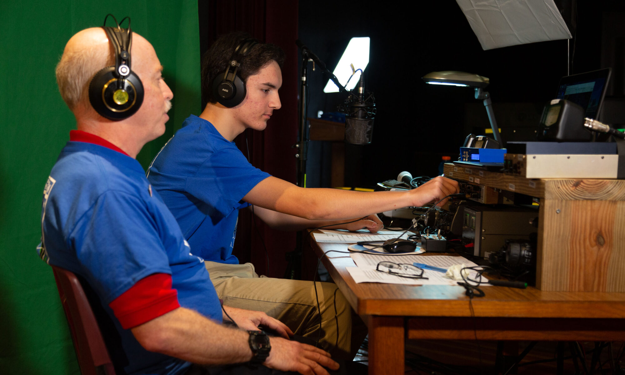 Steve KS1G & Brice Hilliard at the radio